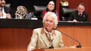 Eligen a Sánchez Cordero como candidata para presidir Senado