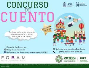 """IMES y UASLP invitan a participar en el concurso de cuento """"El abuso sexual no es un cuento"""", así informó la Mtra. Beatriz Sarahi Aguilera Gallegos"""