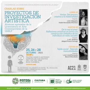 Invitan al Ciclo de charlas del 25 al 28 de octubre en el Teatro Arq. Marco Antonio Garfias de los Santos del IPBA