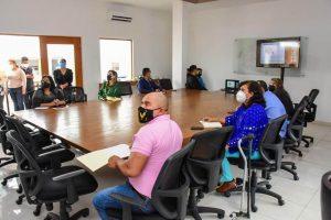 La alcaldesa de Soledad, Leonor Noyola, acompañada de regidores, fueron partícipes de la capacitación virtual que este jueves ofreció el CEFIM