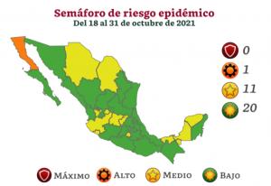Semáforo Covid-19: Más de la mitad del país pasará a color verde